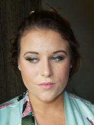Clare Higson's wedding bridesmaid make up (after)