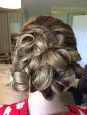 Bridesmaid hair by us